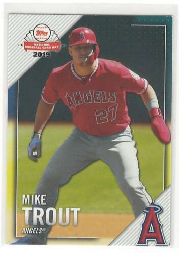 MIKE TROUT 2019 Topps National Baseball Card Day 1 Angels ID 12072 - $1.29