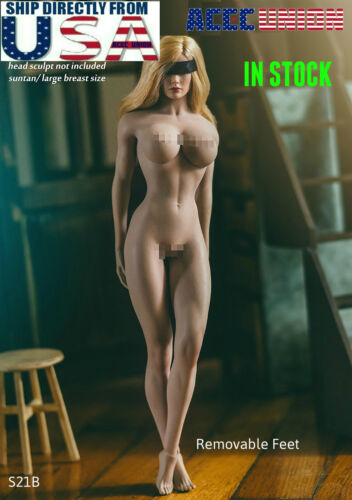 TBLeague PHICEN 1/6 Female Seamless STRONG LEG Body L Bust SUNTAN S21B U.S.A.