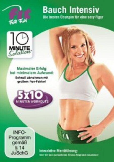 FIT FOR FUN-10 MINUTE SOLUTION - BAUCH INTENSIV  DVD  SPORT & FITNESS  NEU