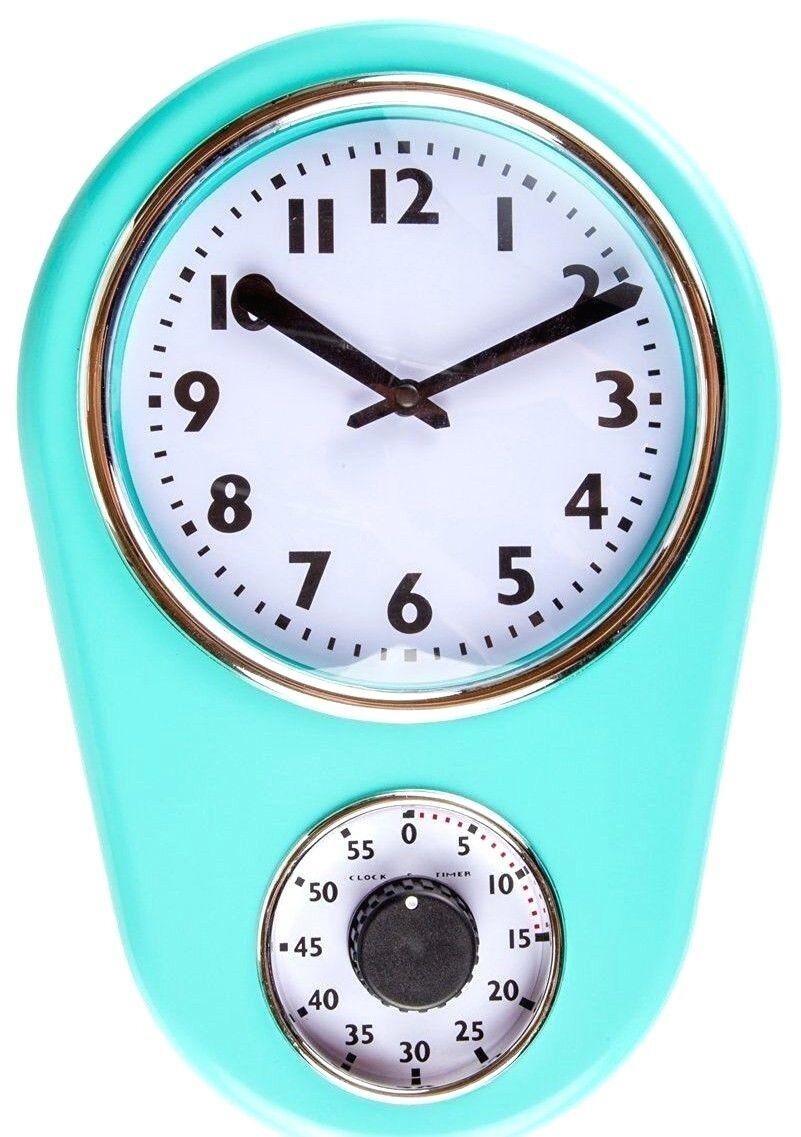 Retro Kitchen Wall Clocks Turquoise Kitchen Wall Clocks Cliff Kitchen