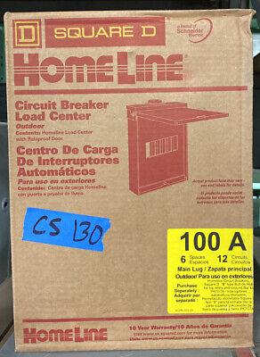 Main Lug Load Center Sub-panel 12-circuit 100 A 6 Sp 3r Cover Hom612l100rbcp