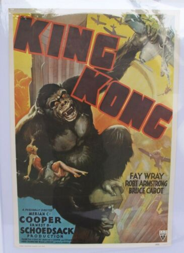 VINTAGE RARE KING KONG MOVIE POSTER DATED 1931