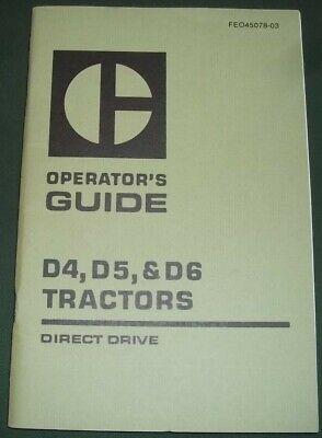 Cat Caterpillar D4 D5 D6 Direct Drive Tractor Dozer Operator Operation Manual