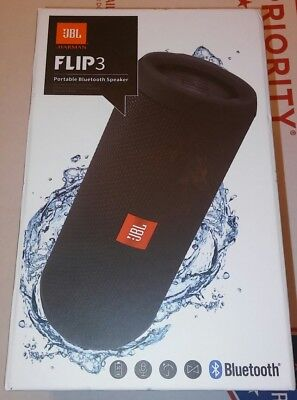 JBL Flip 3 Waterproof Splashproof Bluetooth Speaker BLACK Brand New for sale  Shipping to South Africa