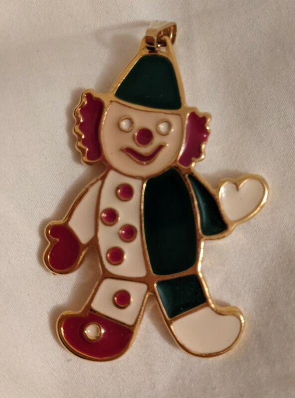 Wallace Silversmiths Solid Pewter Clown Christmas Tree Cookie Ornament W075335