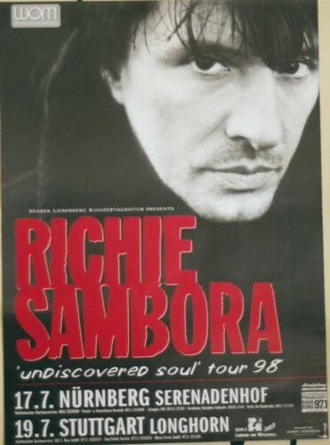 RICHIE SAMBORA CONCERT TOUR POSTER 1998 UNDISCOVERED SOUL BON JOVI