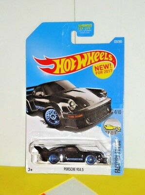 2017 Hot Wheels FACTORY FRESH #320 Porsche 934.5 - Black
