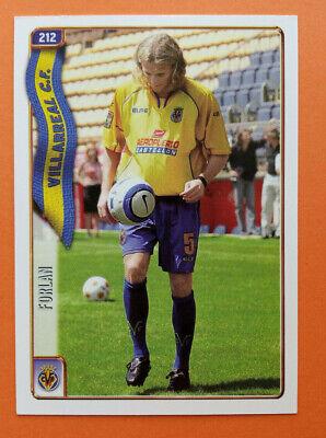 Forlan Rookie Card Villarreal CF #212 Mundicromo 2004 2005 Liga 04 05