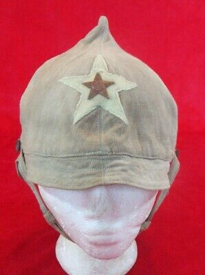 Rare ORIGINAL WWI Model 1922 RED ARMY HAT BUDYONOVKA БУДЁНОВКА  (SUMMER MODEL)