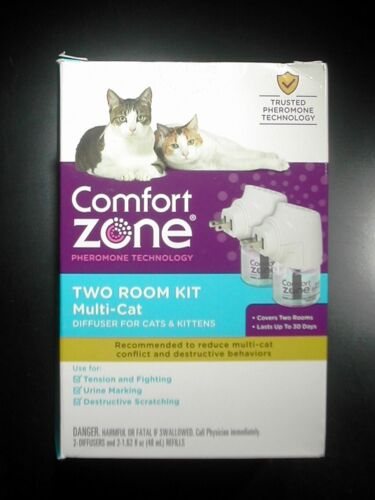 Comfort Zone Two Room Kit Calming Multi-Cat Diffuser For Cats & Kittens