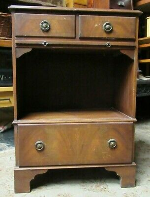 Vintage Telephone 3 Drawer with pull out tray Hall Cabinet Cupboard Stand Table