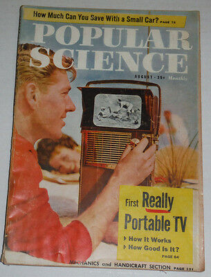Popular Science Magazine First Portable Tv August 1959 120514R