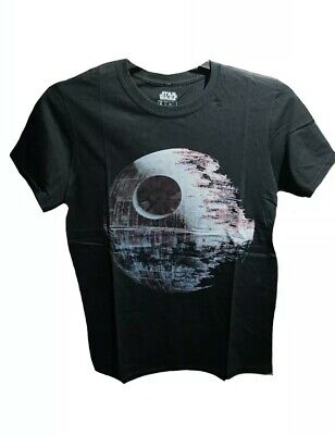 Star Wars Death Star T shirt Mens New Sizes S-M BNWT Black Official