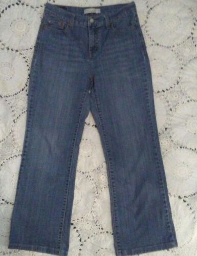 Levi's Perfectly Slimming Boot Cut 512 Jeans size 8 inseam 27 rise 10 inches [f]