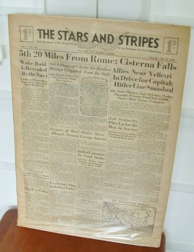 1944 WWII Stars & Stripes Newspaper US Armed Forces European Theater Vol 4 #176