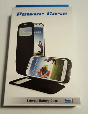 2500mAh External Battery Power Flip Cover Smart View Case For Samsung galaxy S4
