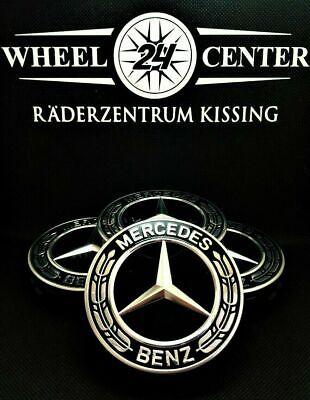 Original Mercedes S Klasse Nabenabdeckungen Felgendeckel Nabendeckel Kappen NEU