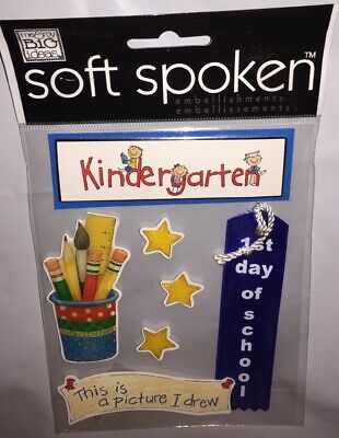 1st Day Of Kindergarten (Soft Spoken KINDERGARTEN 1st Day Of School Scrapbook Sticker Class Student)