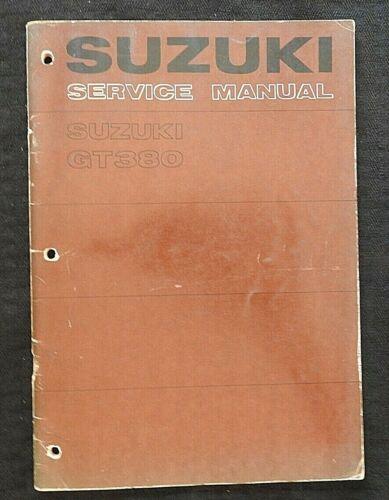GENUINE 1972-1978 SUZUKI 380 GT380 MOTORCYCLE SERVICE MANUAL VERY GOOD SHAPE