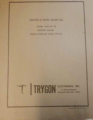 Trygon Electronics Model C160-18c Ov Power Supply Instruction Manual R3-s45