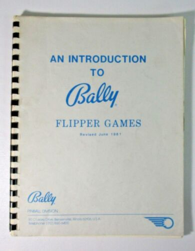 Bally Introduction to Flipper Games Pinball Manual