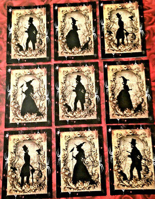 9 Halloween Spooks~Pocket Craft Cards~No Protect~Scrapbooking~Card Craft Making