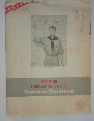 SCOUTING THROUGH THE EYES OF NORMAN ROCKWELL Set #3001-10 prints-HTF!