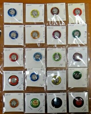 Int. Brotherhood of Electrical Workers Union 9th Dist. Pinback Button Lot of 20