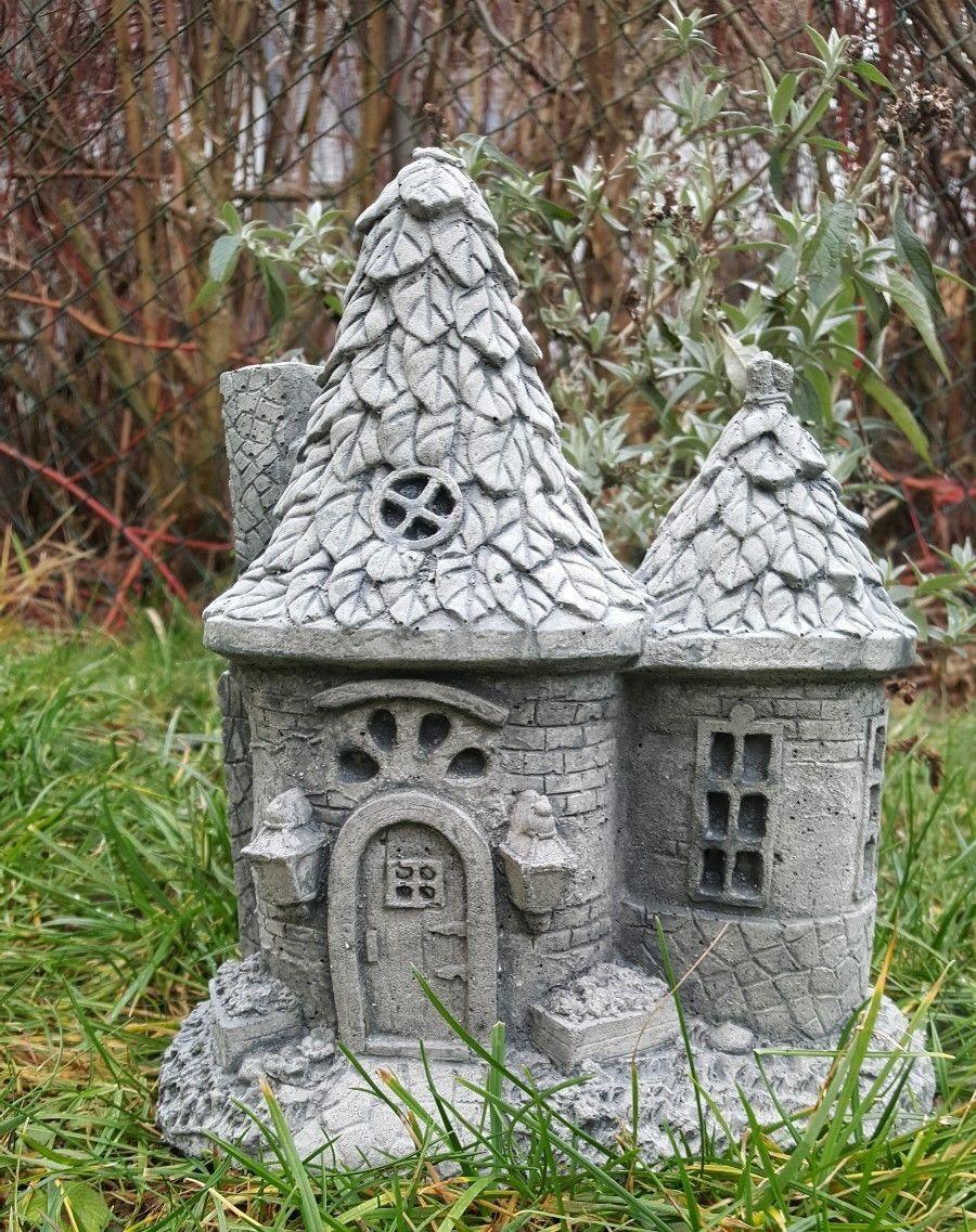 Gartenfigur Feenhaus Haus Feengarten Fee Elfe Figur Garten