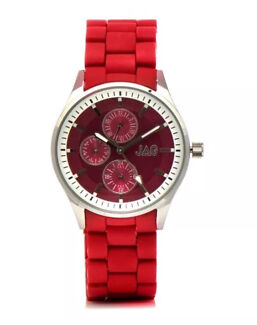 Ladies JAG Red Ceramic/Stainless Steel Watch. New with tags $139.