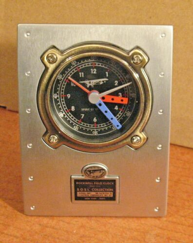 Rockwell Field Clock Mantel Clock Desk Alarm Clock Spirit Of St Louis MIB