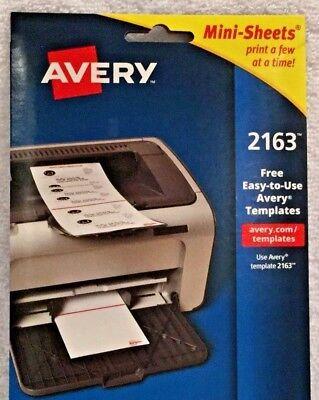 "Avery® 2163 Mini-Sheets™ White Inkjet/Laser Shipping Labels, 2"" X 4"", 100/Box"