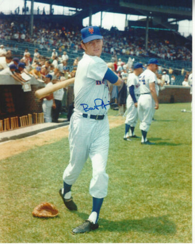1969 Champions New York Mets Bobby  Pfeil  autographed 8x10 color   photo