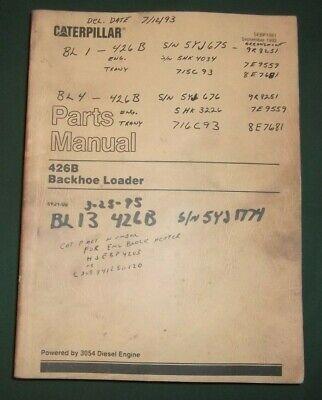 Cat Caterpillar 426b Backhoe Loader Parts Book Manual Sn 5yj00001-up