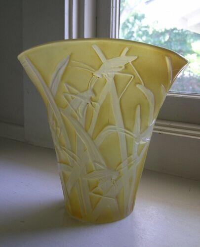Phoenix Consolidated Katydid Flared Vase Art Deco
