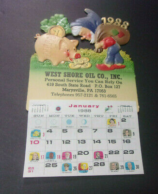 Vintage 1988 Advertising Calendar West Shore Oil Co. Marysville PA