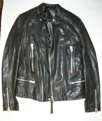 NEW All Saints Men's Biker Leather Jacket Small