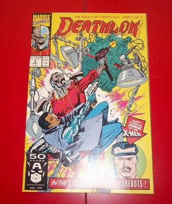 Deathlok  Volume 1 #2 The Souls Of Cyber-Folk! - Part 1 of 4 Exc. Cond. - 1991