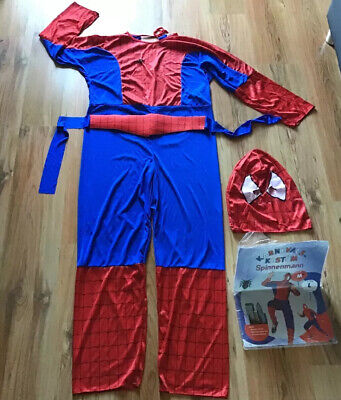 Karnevalskostüm Spinnenmann Spiderman Gr. M Superheld für Fasching, Karneval - Mann Superhelden Kostüm
