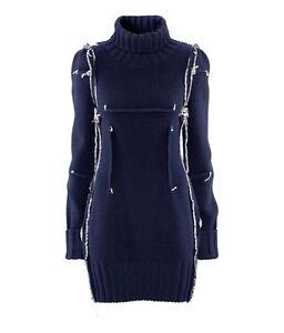 Maison-Martin-Margiela-H-M-S-M-L-oversized-sweater-jumper-MMM-Dress-navy-blue