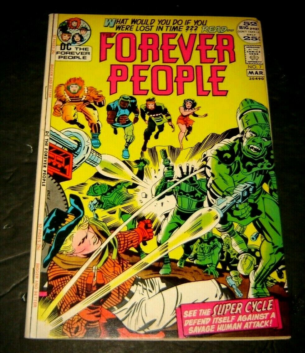 Forever People 7 VF DC Bronze Age 4th World Kirby Art/Story 52 Page Giant - $15.00