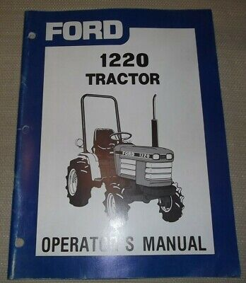 Ford 1220 Tractor Operation Maintenance Manual Book Oem Original