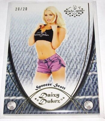 2015 Benchwarmer SPENCER SCOTT Daizy Dukez #89 Gold Foil Variant/20 PLAYBOY Sexy for sale  Shipping to South Africa