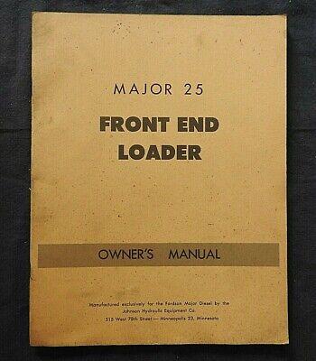 C.1950 Ford Fordson Major Tractor Model 25 Front End Loader Operators Manual
