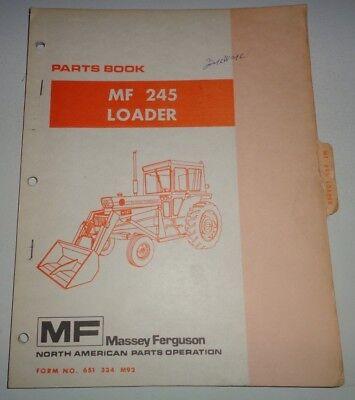 Massey Ferguson Mf 245 Loader Parts Catalog Manual Book Original