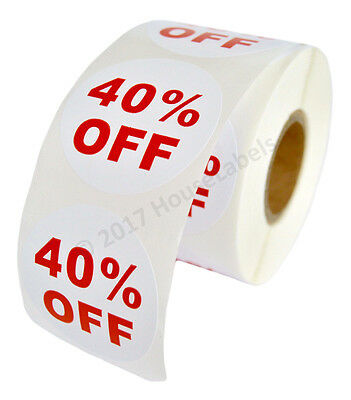 6 Rolls Of 40 Off Discount Labels 500 Labelsroll 2.5 Diameter Bpa Free