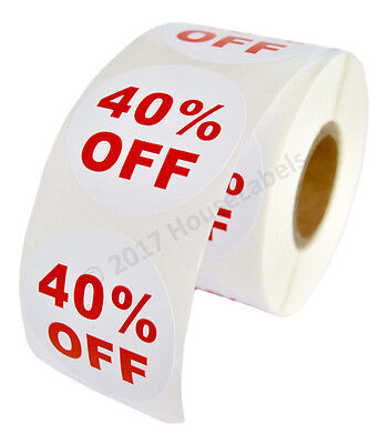 1 Roll Of 40 Off Discount Labels 500 Labelsroll 2.5 Diameter Bpa Free