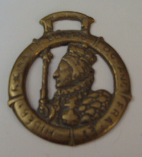 Queen Elizabeth I vintage Horse Brass UK  #2
