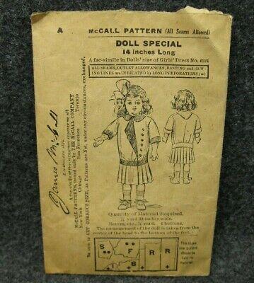 HATS Rare Vintage Artisan Hand Drawn Doll Clothes Pattern 16