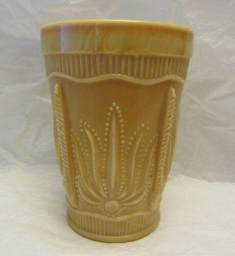 Vintage Slag Glass Drinking Glass Cup Ornate Design & Pattern Champagne Color